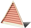 5' Wide 12:12 pitch Gable Louver