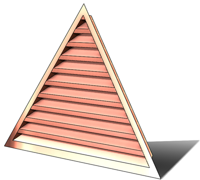 wall vent, copper wall vent, copper vent, vent, copper gable vent, copper gable end vent, gable wall vent, gable end vent, gable vent, triangular louver, triangular wall vent, copper triangular louver, copper triangular wall vent, copper triangular vent