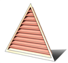 5' Wide 13:12 pitch Gable Louver