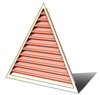 5' Wide 14:12 pitch Gable Louver