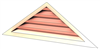 5' Wide 5:12 pitch Gable Louver