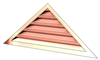 5' Wide 6:12 pitch Gable Louver