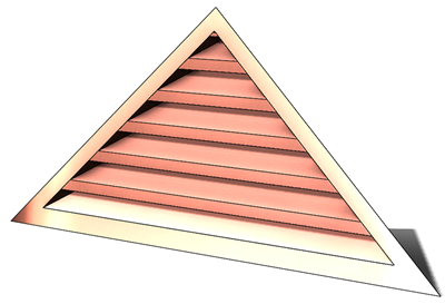 5' Wide 7:12 pitch Gable Louver