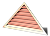 5' Wide 8:12 pitch Gable Louver