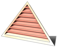 5' Wide 9:12 pitch Gable Louver