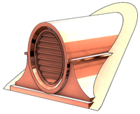 Copper Clock Face Roof Vent, Copper Roof Vents, Roof Dormers, Roof Vents, Arch Roof Vent, Clock Roof Vent, Dormer Vent, Dormer Louver, Copper Roof Louver, roof vent