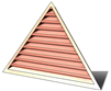 6' Wide 10:12 pitch Gable Louver