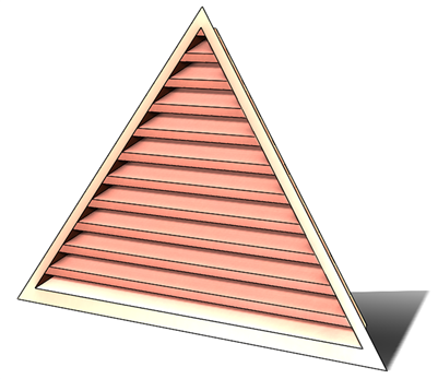 6' Wide 11:12 pitch Gable Louver