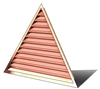 6' Wide 12:12 pitch Gable Louver