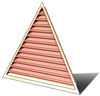 6' Wide 13:12 pitch Gable Louver