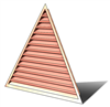 6' Wide 14:12 pitch Gable Louver