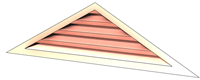 6' Wide 4:12 pitch Gable Louver