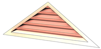 6' Wide 5:12 pitch Gable Louver