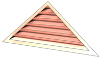 6' Wide 6:12 pitch Gable Louver