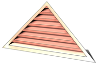 6' Wide 7:12 pitch Gable Louver
