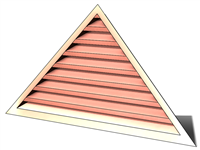 6' Wide 8:12 pitch Gable Louver