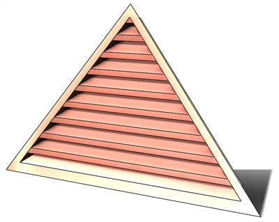 wall vent, gable vent, copper wall vent, copper gable vent, triangular wall vent, triangular louver, vent, triangular louver vent, copper louver, louver, copper, gable vent, gable end vent, copper gable vent, copper gable vent, copper triangular louver