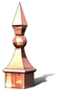 Copper roof spire, finial, copper finial, roof finial, roof spire, spire
