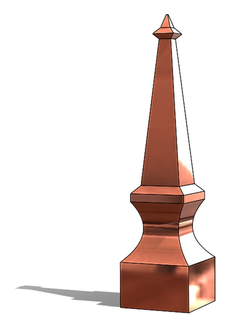 ROOFING SPIRE COPPER FINIAL CAP