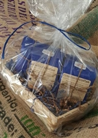 Roasted coffee bean gift basket
