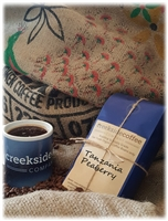 package of roasted Tanzania Peaberry coffee beans