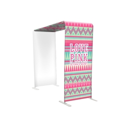 "38"" L-shaped Modular Display with Fabric Print"