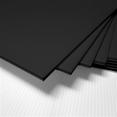 "18"" x 24"" Blank Corrugated Plastic Sheets - Black"