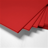 "18"" x 24"" Blank Corrugated Plastic Sheets - Red"