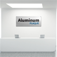 Custom Aluminum Plaque Lobby Sign Kit