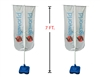 7' DDouble-Sided Outdoor Vertical Round Advertising Flag Stand