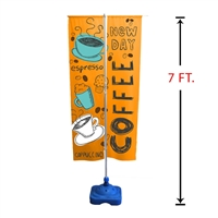 7' Outdoor Vertical Advertising Flag Stand