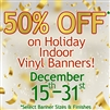 Holiday Custom Banner Printing Service (Indoor/Outdoor)