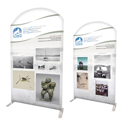 "58"" Curved Modular Display Double Sided Print"