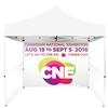 UV Printed Full-Colour Canopy Tent BACK WALL ONLY