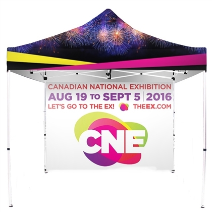 UV Printed Full-Colour Canopy Tent with Back Wall