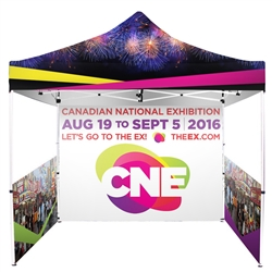 Printed Full-Colour Canopy Tent Package with Back and Side Walls