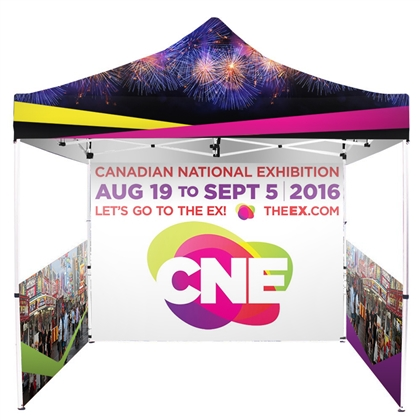 UV Printed Full-Colour Canopy Tent Package with Back and Side Walls