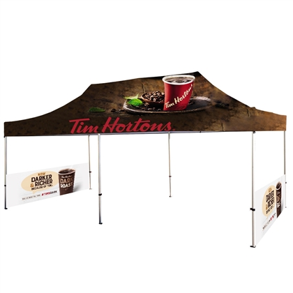 20' UV Printed Full-Colour Canopy Tent With Side Walls