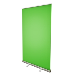 "57"" Roll Up Retractable Banner Stand with Green Screen or Blue Screen Vinyl Print"