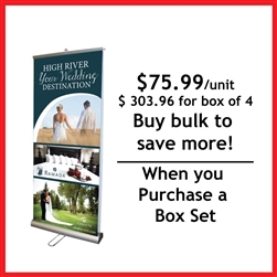 "33"" Double Sided Roll Up Retractable Banner Stand"