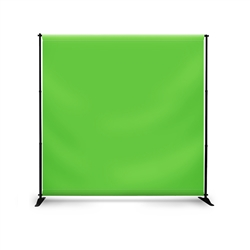 Telescopic Banner Stand (Step & Repeat) Green Screen
