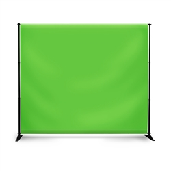 Telescopic HD Stand w Green Screen Fabric Print