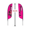 SMALL DOUBLE-SIDED FEATHER FLAG KIT 10'