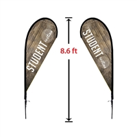 SMALL DOUBLE-SIDED TEAR DROP FLAG KIT 8'