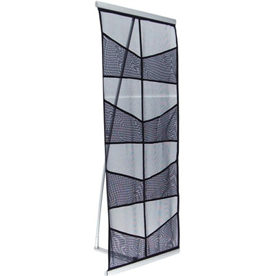 8-Pocket Mesh Portable Literature Stand for Trade Shows