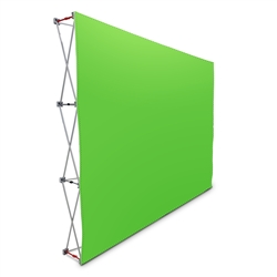 10' Pop Up Display With Green Screen or Blue Screen Fabric Print