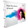 10 Foot Fabric Pop Up Display With Fabric Print