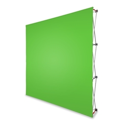 8' Pop Up Display With Green Screen or Blue Screen Fabric Print