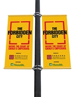 "Street Light Pole Banner Brackets 24"" Double Set"