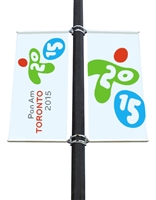"Street Light Pole Banner Brackets 30"" Double Set"